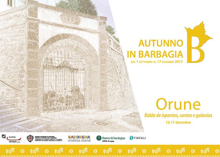 Autunno in Barbagia a Orune 16-17 dicembre 2017: tutte le informazioni utili